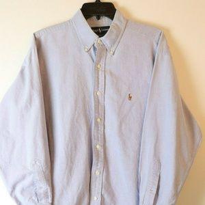 RALPH LAUREN Light Blue yarmouth dress shirt 16 32